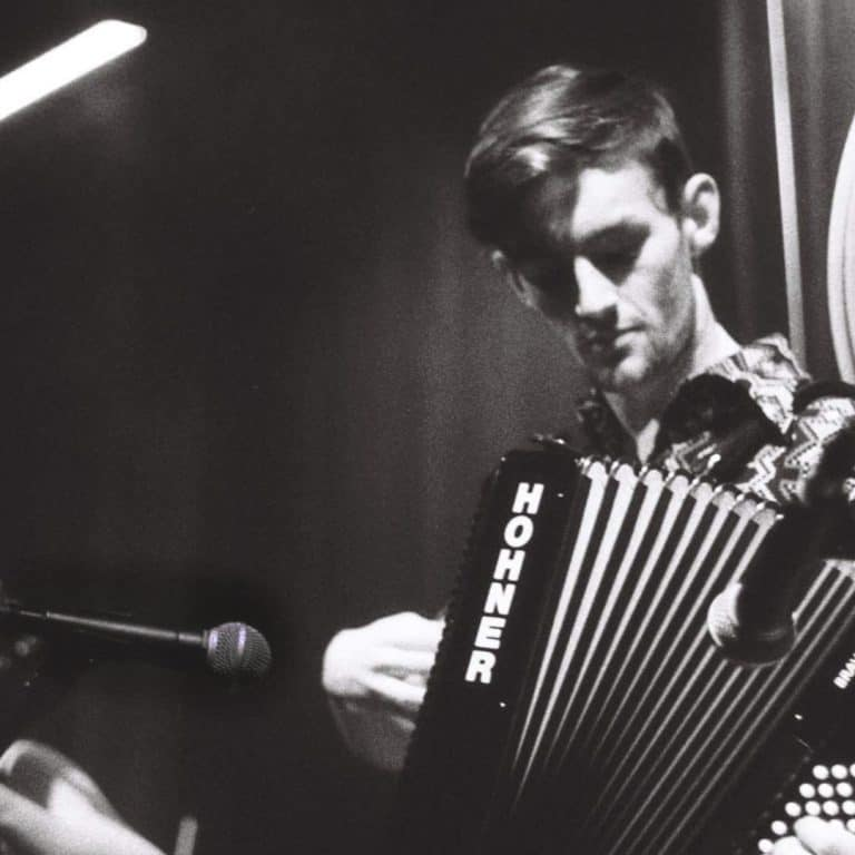 Pete Shaw of Good Habits with an accordion