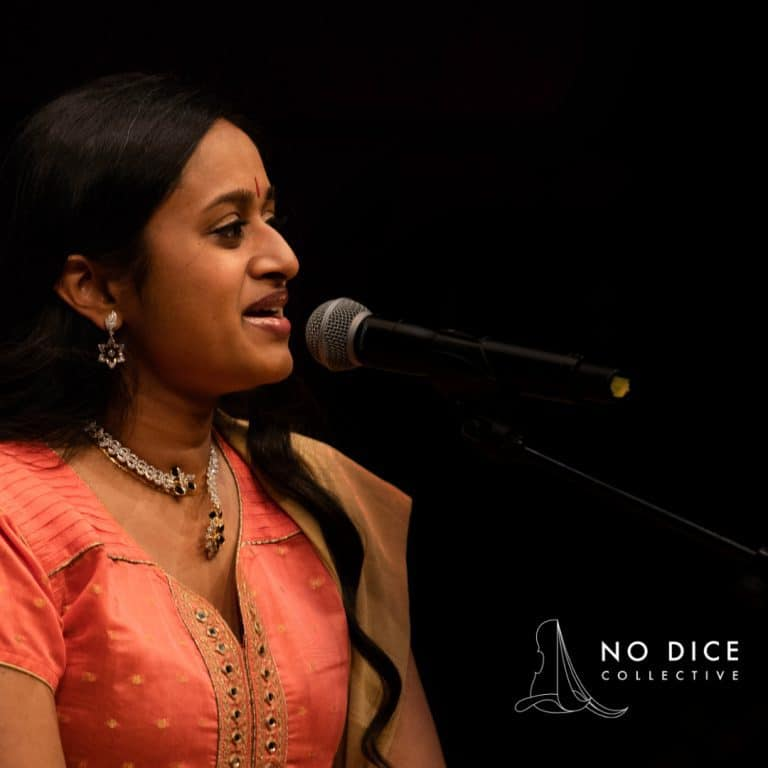 Shruthi Rajasekar with microphone